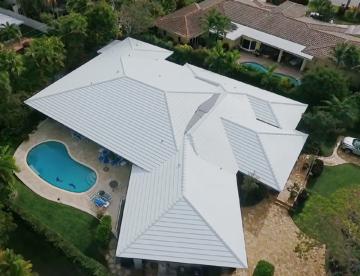 Ultra White Tile Roof