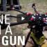 Drone with a nail gun